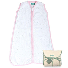 Load image into Gallery viewer, Baby Sleep Bag or Sack 6-12 Months.100% Cotton, Pink Star - Biloban Online Store