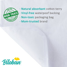 Load image into Gallery viewer, Changing Pad Liners(5 Pack), Washable Cotton Terry Changing Table Pads - Biloban Online Store