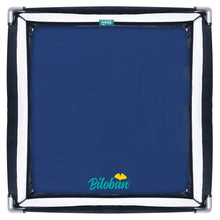 "Load image into Gallery viewer, Square Playard Sheets - 2 Pack, Ultra Soft Cotton, Navy Blue (for Square Playard 36""×36"") - Biloban Online Store"