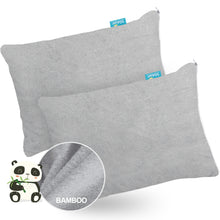 "Load image into Gallery viewer, Toddler Pillowcase- Waterproof, Bamboo Terry, 14""x19"" with Zipper, Gray - Biloban Online Store"