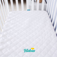 Load image into Gallery viewer, Waterproof Bamboo Quilted Crib Mattress Encasement Zippered,Breathable and Absorbent, 6 Sides Fully Encased - Biloban Online Store