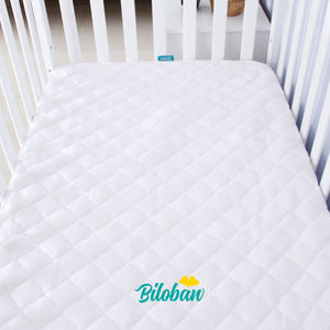 Waterproof Bamboo Quilted Crib Mattress Encasement Zippered,Breathable and Absorbent, 6 Sides Fully Encased - Biloban Online Store
