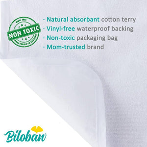 Biloban Waterproof Cotton Terry Changing Pad Liners - Biloban Online Store