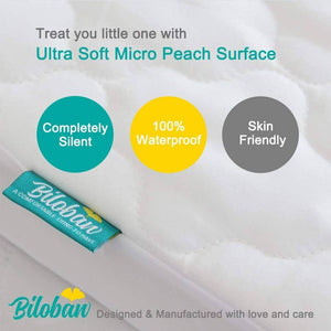 "Biloban Pack N Play Mattress Pad / Protector, Ultra Soft Microfiber ( for Mini Crib 39"" x 27"")"