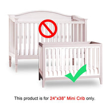 "Load image into Gallery viewer, Mini Crib Bumper Pads - Pink (for Portable Mini Cribs 24""x 38"") - Biloban Online Store"