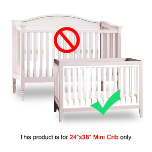 "Mini Crib Bumper Pads - Pink (for Portable Mini Cribs 24""x 38"") - Biloban Online Store"