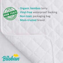 Load image into Gallery viewer, Biloban Superior Bamboo Fleece Surface Changing Pad Liners - Waterproof (5 Pack)