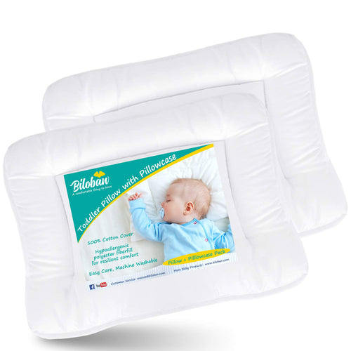 Baby Toddler Pillow 2 Pack with Pillowcase (13