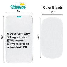 Load image into Gallery viewer, Biloban Waterproof Cotton Terry Changing Pad Liners - Biloban Online Store