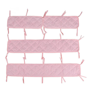 "Crib Bumper Pads- Fit for Standard Size Crib (52""x28""), Pink - Biloban Online Store"