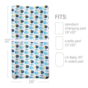 Changing Pad Cover, 100% Cotton Jersey Knit Soft Changing Pad Cover, 2 Pack, Whale Print - Biloban Online Store