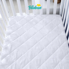 Load image into Gallery viewer, Biloban Zippered Crib Mattress Protector - Breathable 6 Side Fully Encased