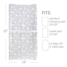 Load image into Gallery viewer, Changing Pad Cover for Baby - 2 Pack Grey, Ultra Soft 100% Jersey Knit Cotton - Biloban Online Store