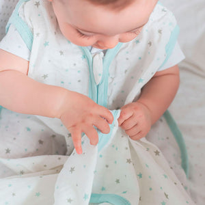 Baby Sleep Bag Sack 100% Cotton, 0.5 TOG, Blue Star - Biloban Online Store