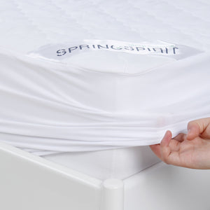 "Waterproof Mattress Protector, Ultra Soft Microfiber Quilted, Fitted with Deep Pocket up to 14"" Depth - Biloban Online Store"