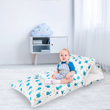 Load image into Gallery viewer, Kids Floor Pillow Cover, Cover Only, Non-Slip and Soft Floor Cushion for Boys and Girls, Whale Print - Biloban Online Store