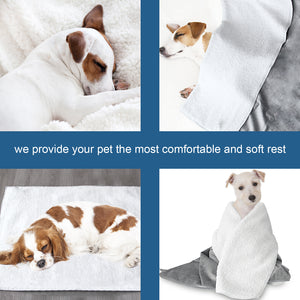 Waterproof Pet Blanket,30''x40'', Soft and Breathable Dog Blanket,Pet Bed Cover Fleece for Dogs,Cats,Car,Bed and Sofa - Biloban Online Store