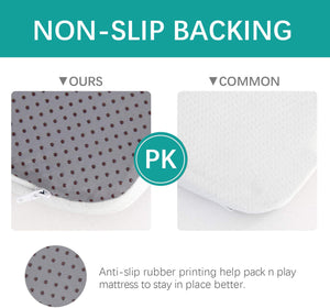 "Pack N Play Mattress, 38"" x 26"", Waterproof & Non-Slip Cover, Trifold, White - Biloban Online Store"