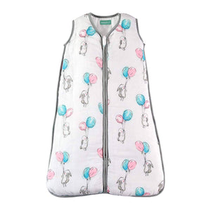 Muslin Sleeping Bag for Babies, Super Soft and Light Wearable Blanket - 0.5 TOG Ideal for Summer