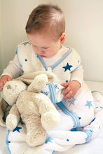 Load image into Gallery viewer, Baby Sleep Sack - Warm Muslin, Star-Blue - Biloban Online Store