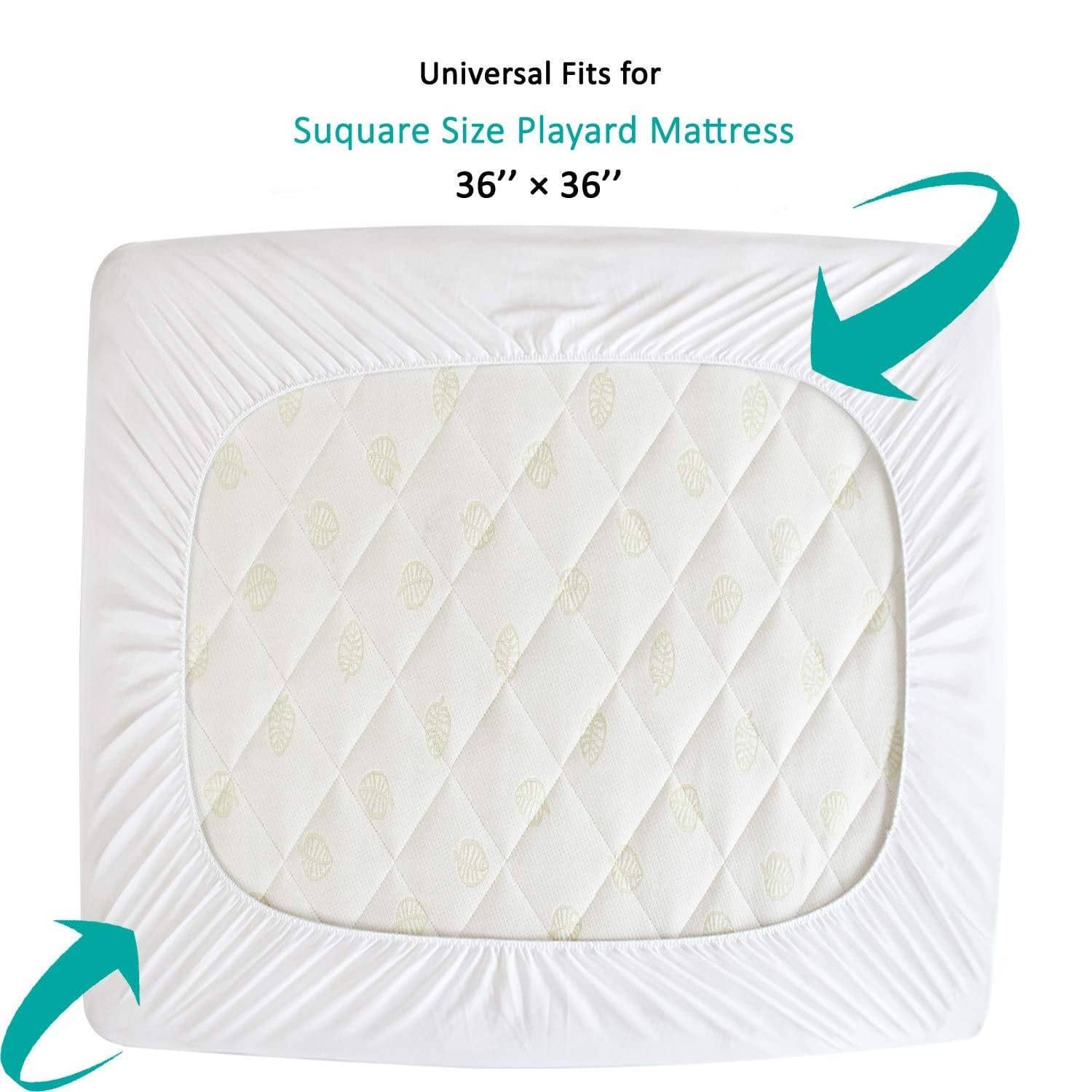 Biloban Pack N Play Mattress Pad For All Square Playard