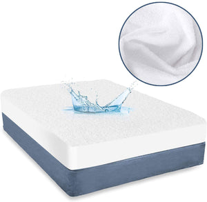 "Waterproof Mattress Protector Ultra Soft Bamboo Terry, 14""-18"" Deep Pocket - Biloban Online Store"