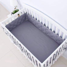 "Load image into Gallery viewer, Crib Bumper Pads - 3D Weave Print, Fit for Standard Crib (52""x28"") - Biloban Online Store"