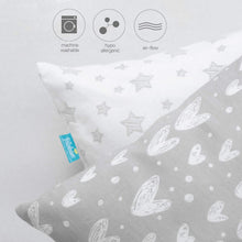 Load image into Gallery viewer, Baby Toddler Pillowcase 2 Pack,Gray- Ultra Soft 100% Jersey Knit Cotton, Pillowcase for Sleeping - Biloban Online Store