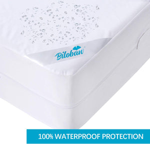 Zippered Mattress Encasement, Waterproof Mattress Protector, Premium Hypoallergenic 6-Sided Bed Cover, Breathable and Absorbent - Biloban Online Store