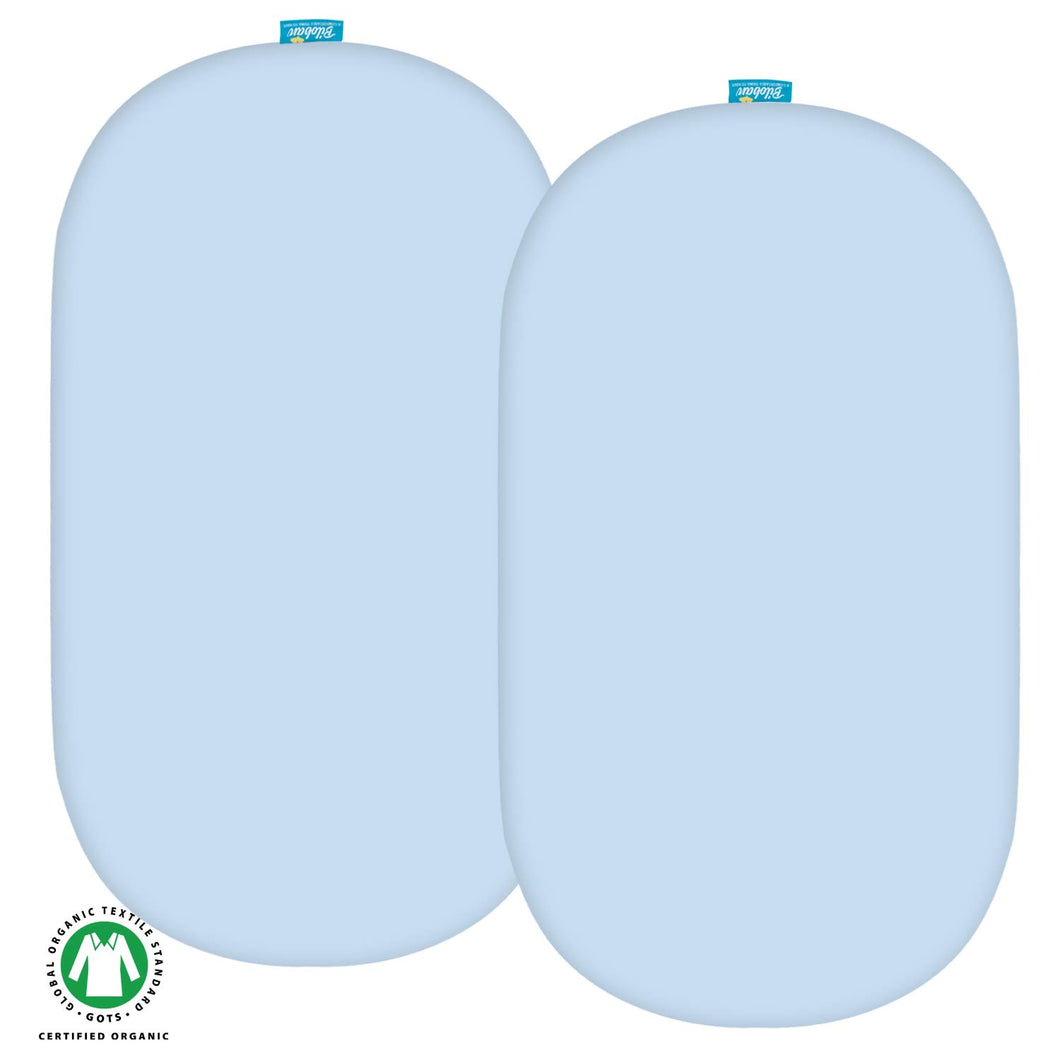 Organic Waterproof Bassinet Sheet ,2 Pack - Light Blue, Waterproof - Biloban Online Store
