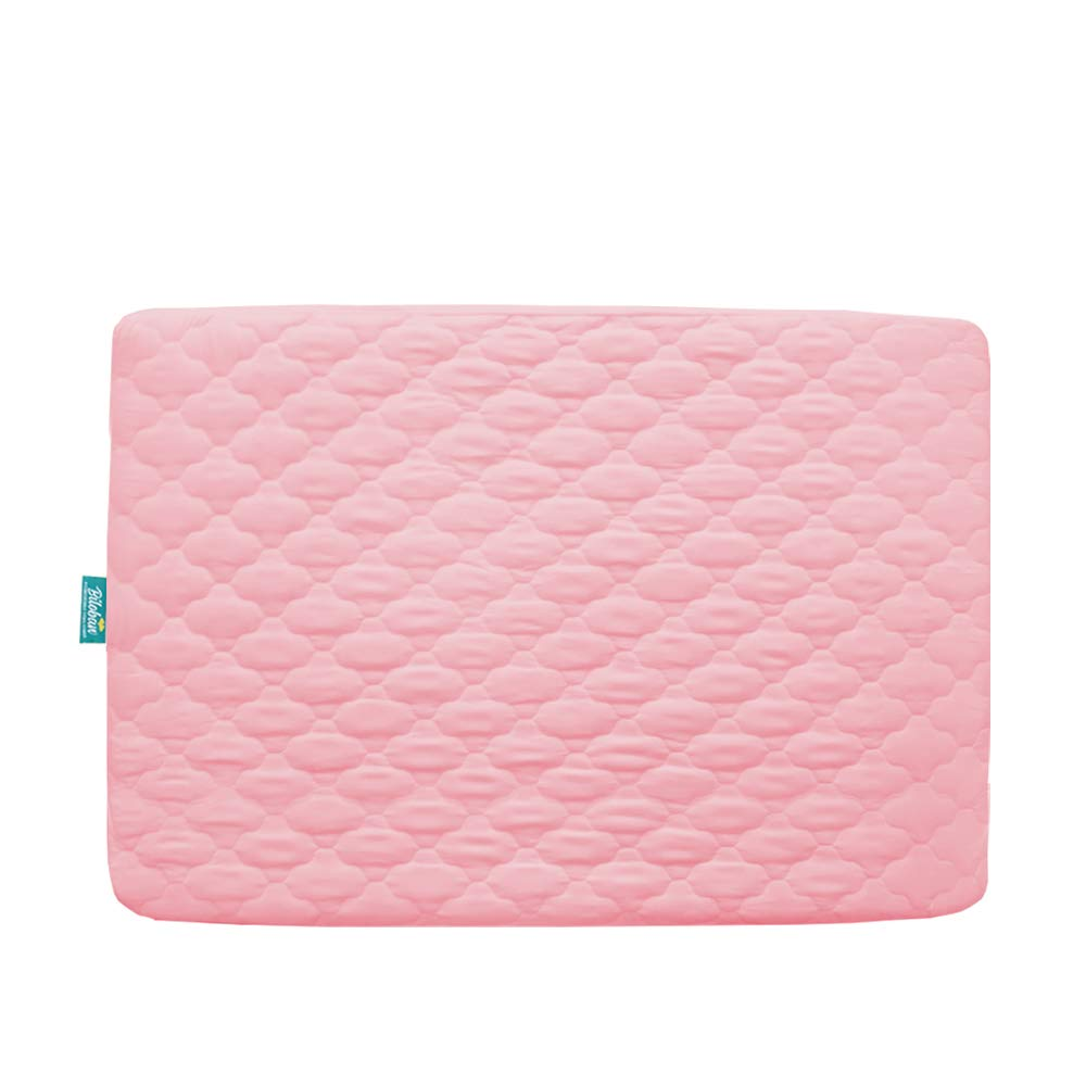 Playard Mattress Pad/ Protector, Ultra Soft Microfiber - Pink (for Mini Crib 39