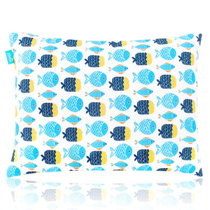 "Toddler Pillow for Sleeping, 13"" x 18"" Soft Best Neck Support - Fish Print - Biloban Online Store"
