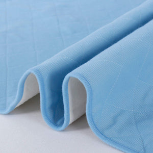 Washable Bed Pads for Incontinence 2 Pack  Blue- 34'' x 52'', Reusable, Waterproof ,Non-Slip Back - Biloban Online Store