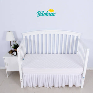 "Crib Mattress Protector - Cotton ( for Standard Crib 52"" x 28"" )"