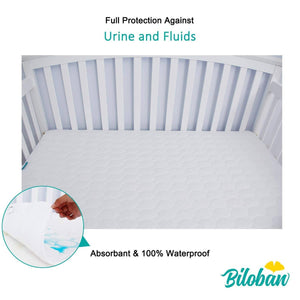 "Crib mattress protector-natural Cotton waterproof( for Standard Crib 52""X 28"") - Biloban Online Store"
