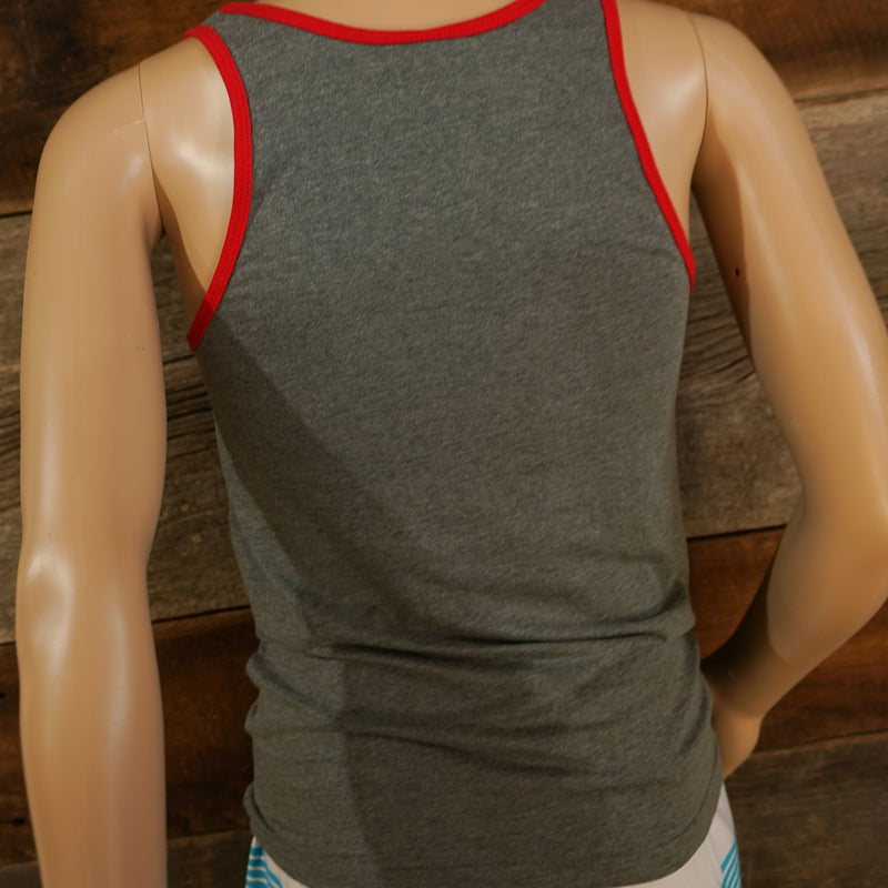 Unisex Lake Life Tank Top - Red/Grey (only sizes XS-M remaining) - Lake Time Supply Co.
