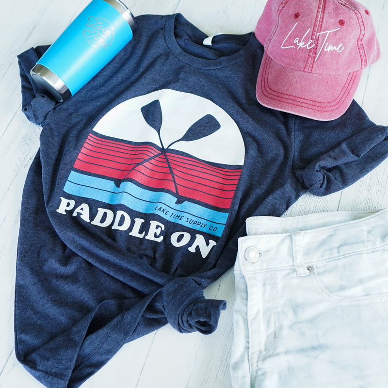 Unisex T-Shirt - Paddle On - Lake Time Supply Co.