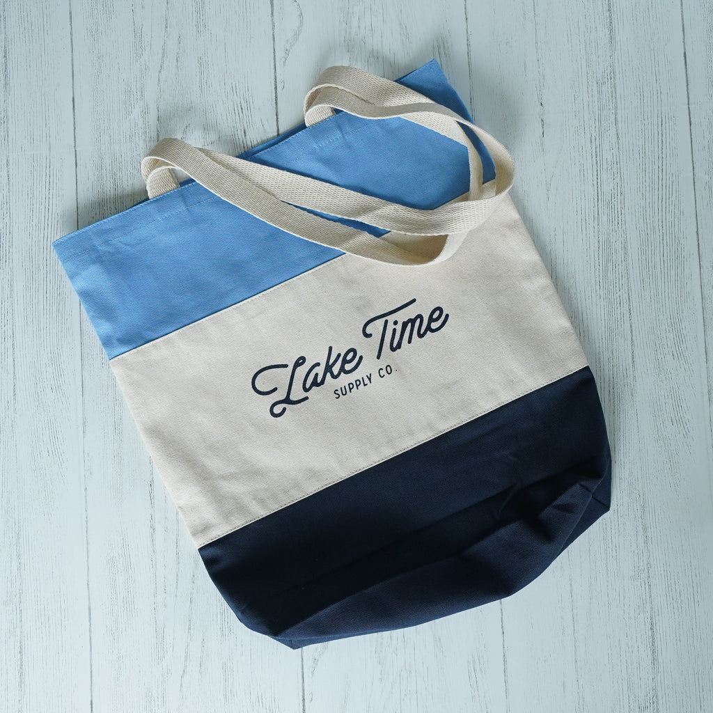 Lake Time Canvas Tote Bag - Lake Time Supply Co.