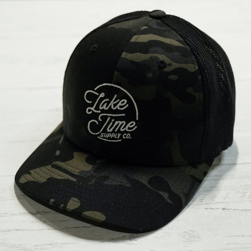 Camo Fitted Cap - Lake Time Supply Co.