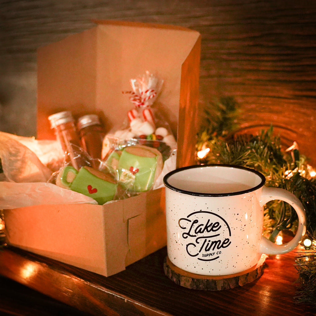 Exclusive Holiday Bundle: Cabin Mug + Hot Cocoa Charcuterie Box - Lake Time Supply Co.