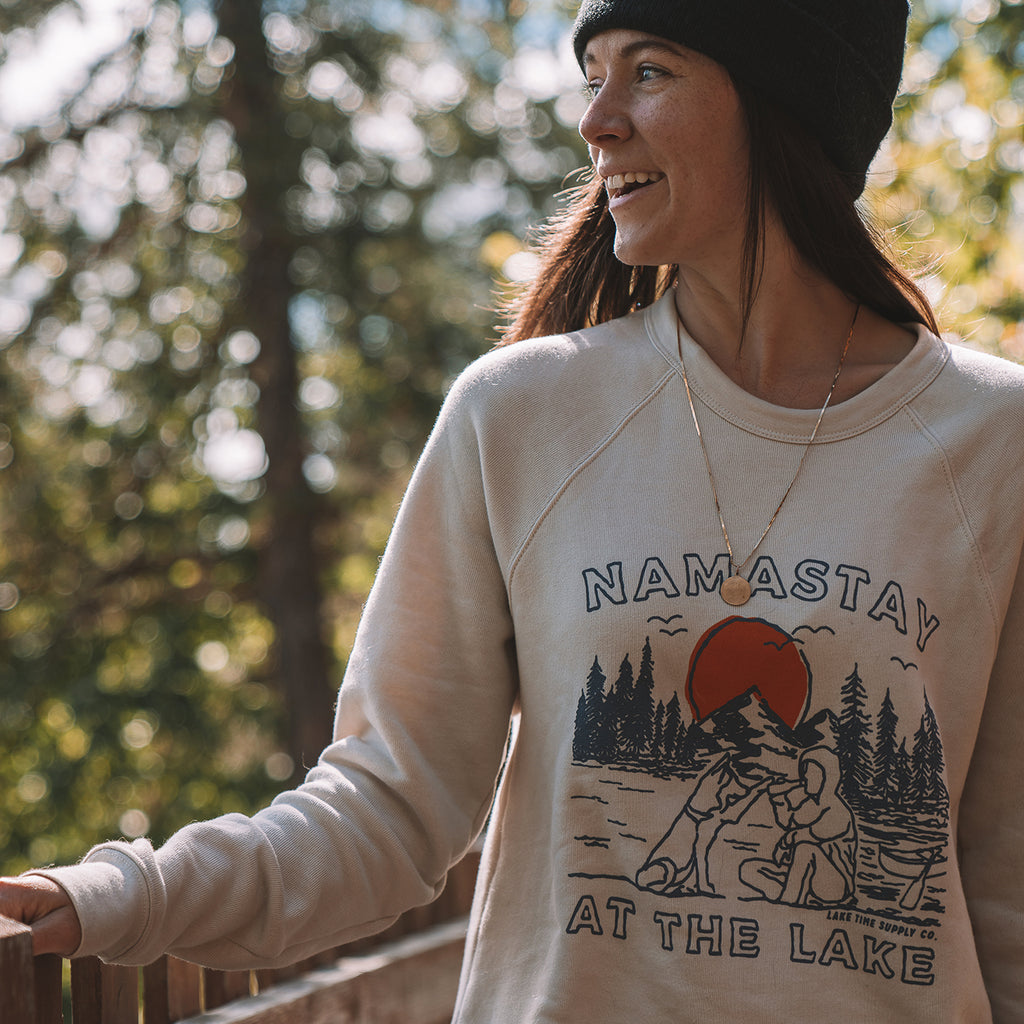 Unisex Crew - Namastay At The Lake - Lake Time Supply Co.