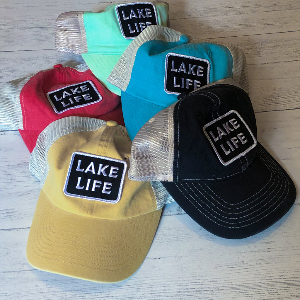 Lake Life Patch Trucker Cap