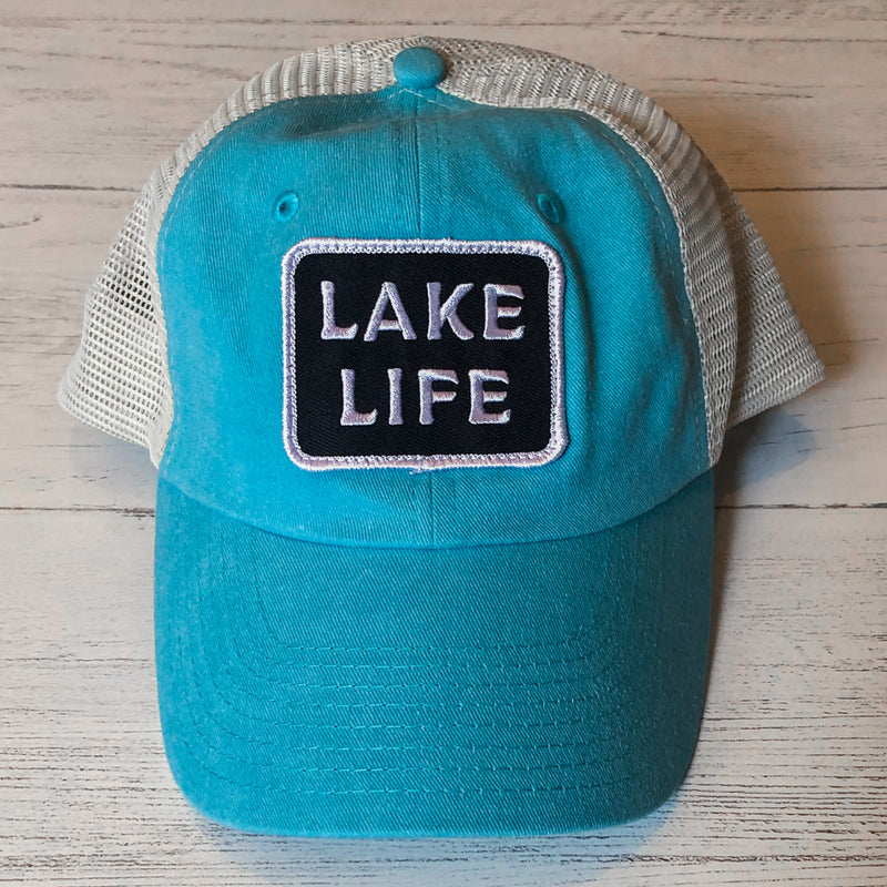 Lake Life Patch Trucker Cap - Lake Time Supply Co.