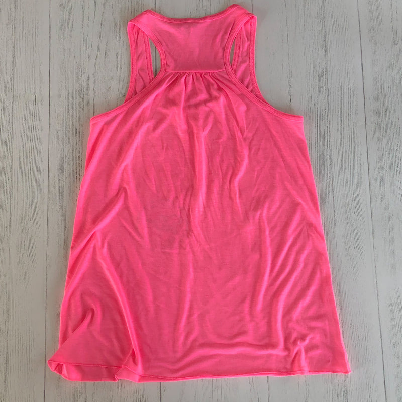 Ladies' Flowy Racerback Tank - Neon 90's - Lake Time Supply Co.