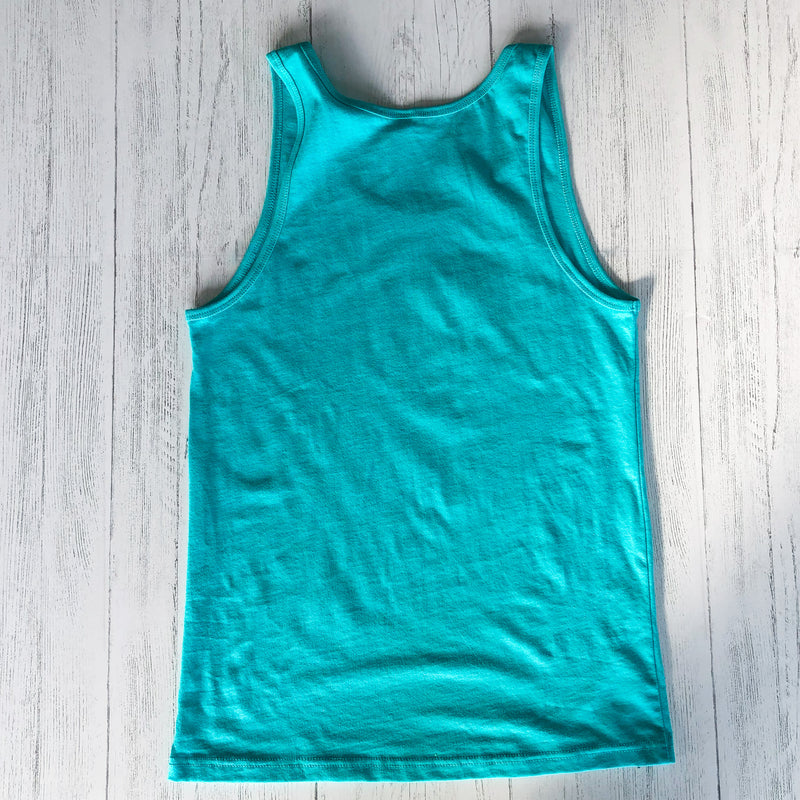 90's Lake Time Tank - Unisex Fit (Teal) - Lake Time Supply Co.