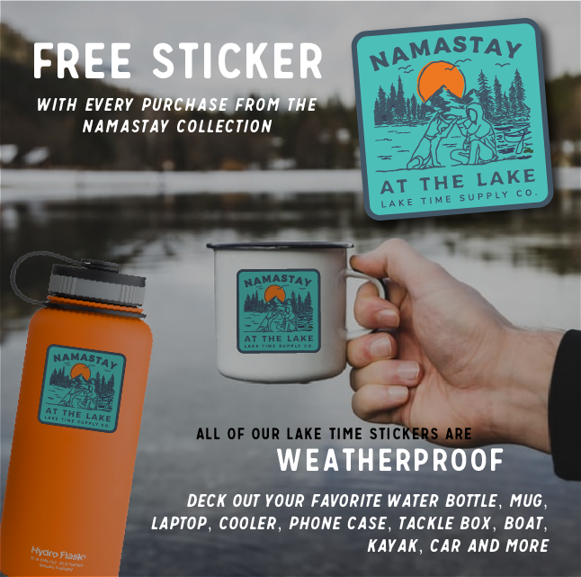 Namastay at the Lake Ball Cap - Lake Time Supply Co.
