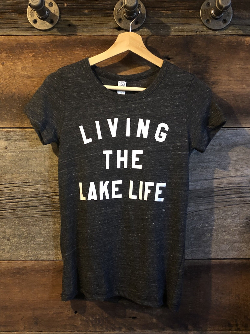 Living the Lake Life - Ladies' Statement Tee - Lake Time Supply Co.