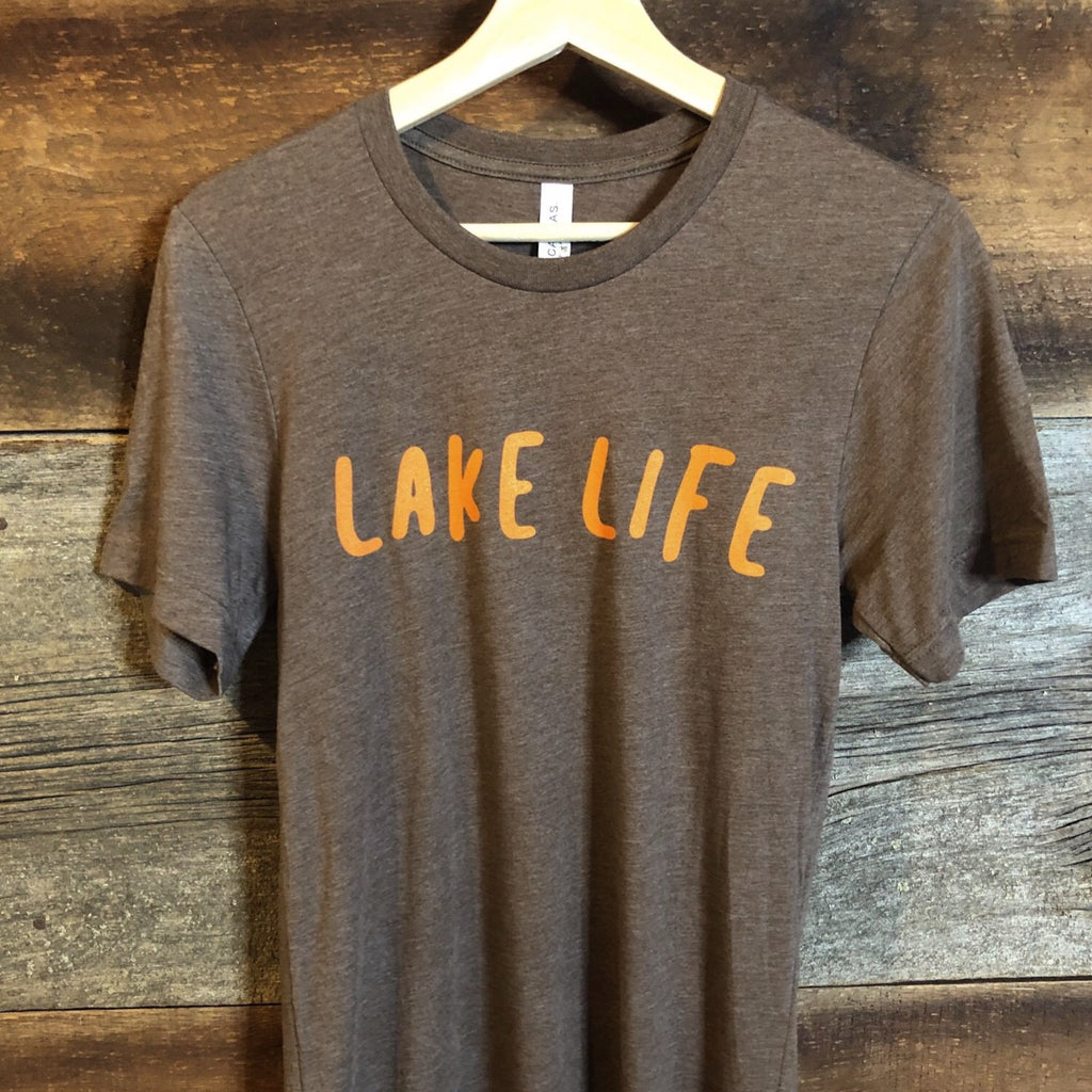 Lake Life Sunset (Unisex) - Heather Brown (only XS + Small remaining)
