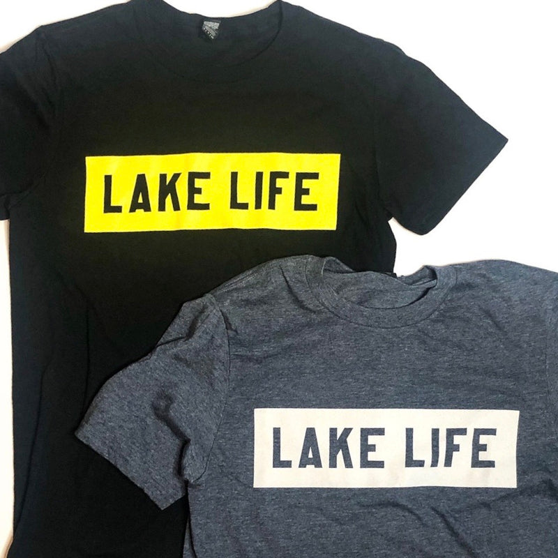 Lake Life Block T-Shirt (Unisex) - Lake Time Supply Co.