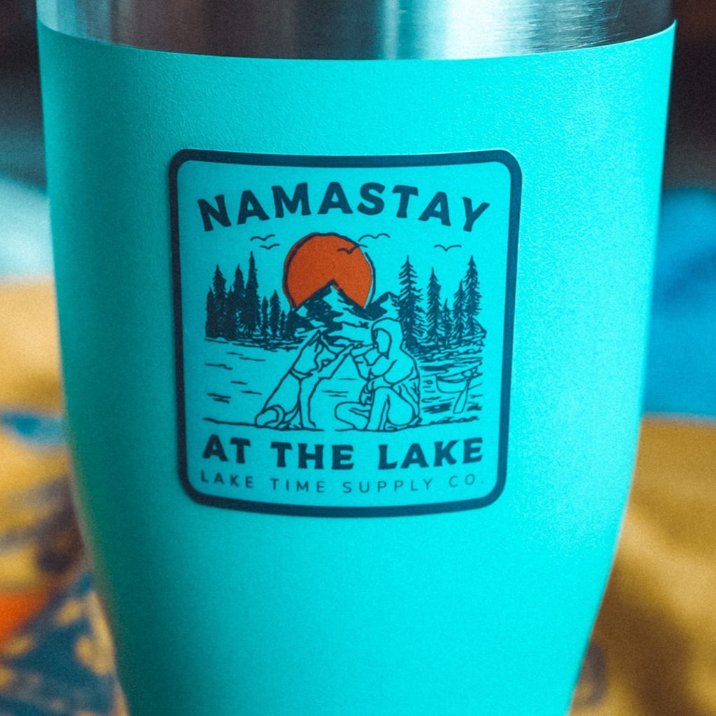 Weatherproof Sticker - Namastay At The Lake - Lake Time Supply Co.